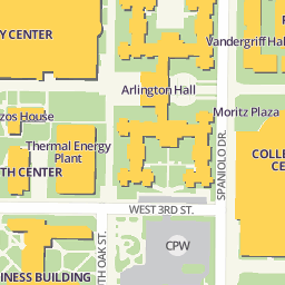 Map And Directions College Park Center The University Of Texas
